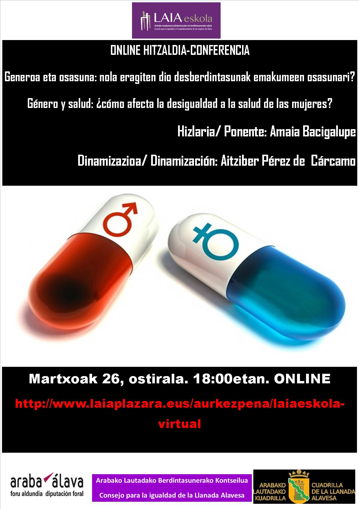 Charla online: Genero y salud