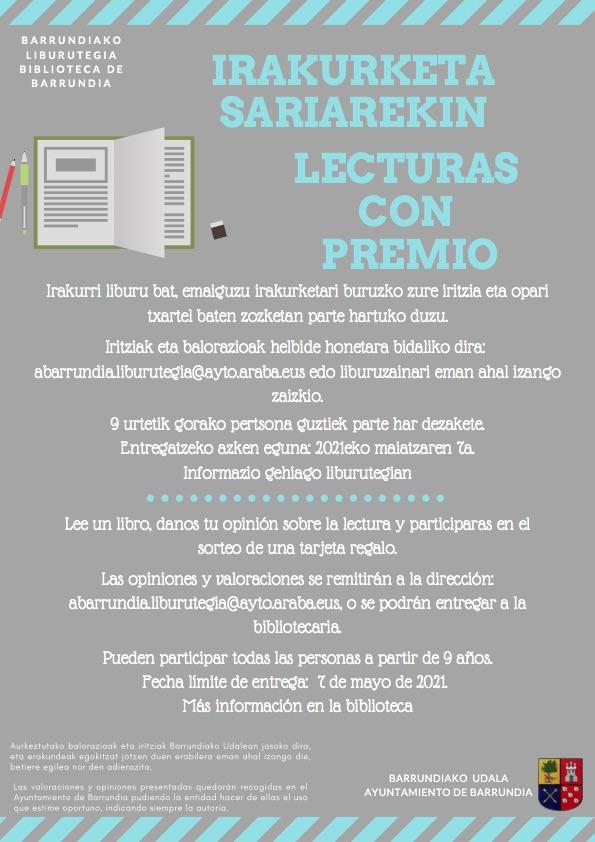 Biblioteca: Lecturas con premio