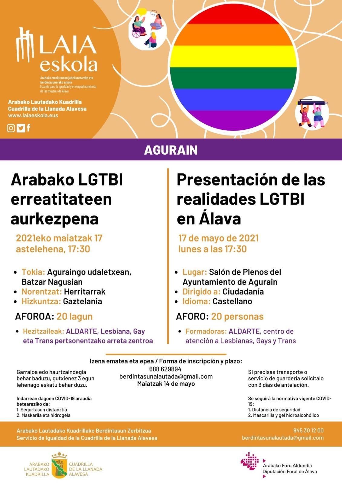 Presentacion de las realidades LGTBI en Alava