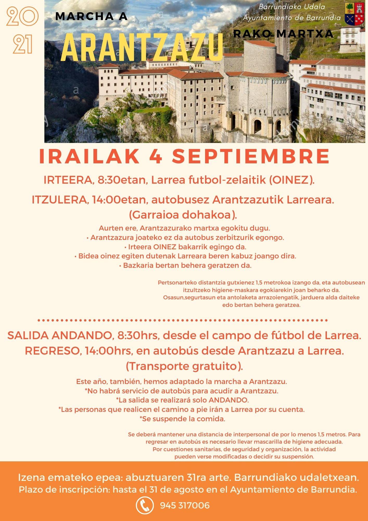 Marcha a Arantzazu 2021, 4 de septiembre
