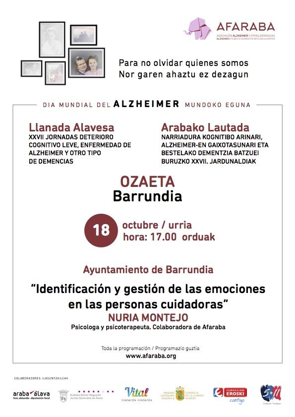 """Hitzaldia: """"Identificacion y gestion de las emociones en personas cuidadoras"""""""