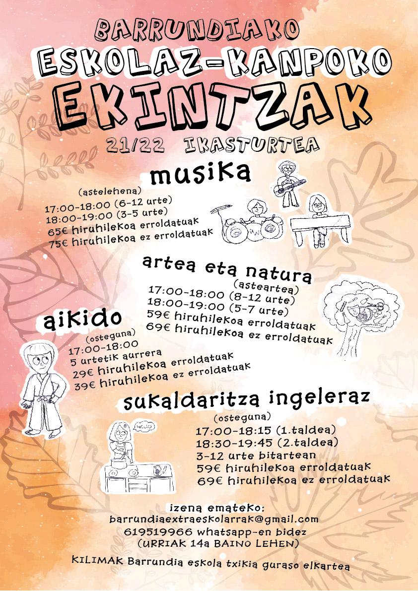 Eskolaz-kanpoko ekintzak 21/22